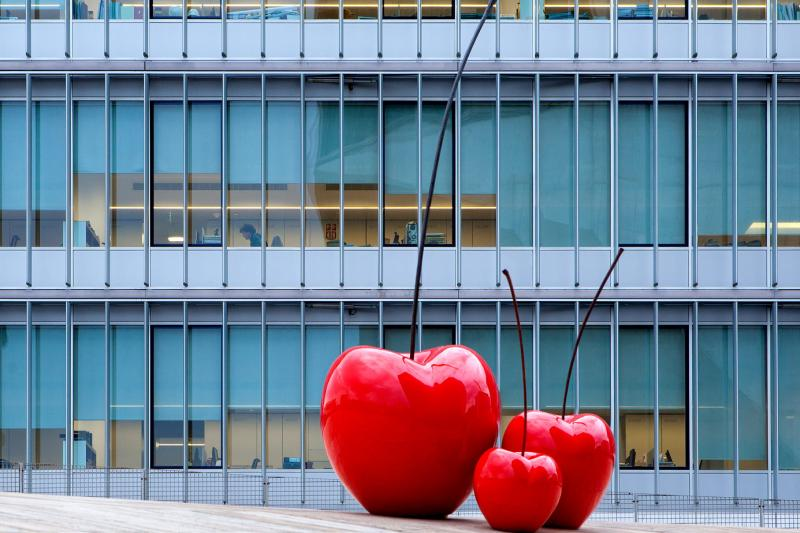 outdoor cherry sculpture for garden