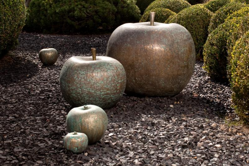foundry bronze fruit sculpture